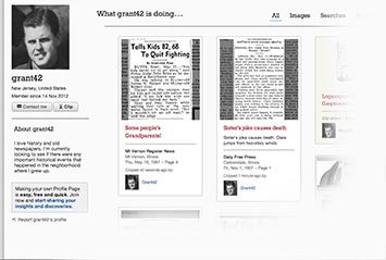 Profile page on Tampa Tribune Archive